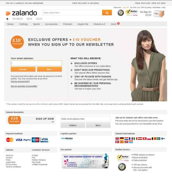 Zalando_Sign-Up-Newsletter