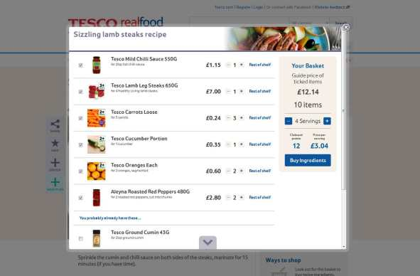 Tesco-recipe