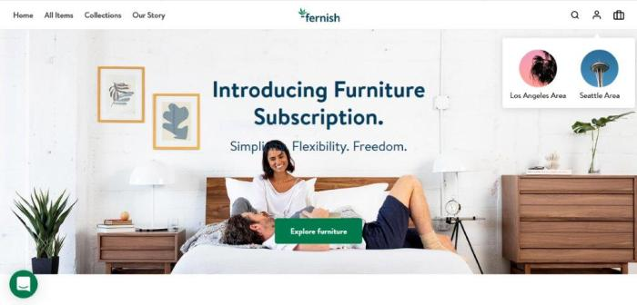 Fernish Homepage