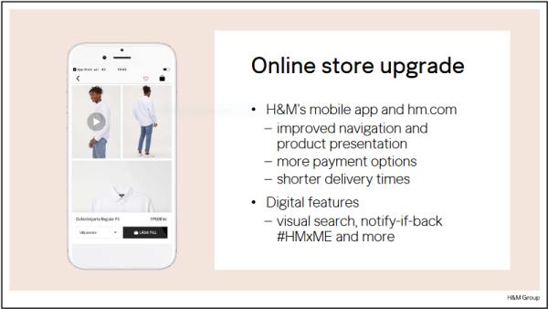 Hm online Store upgrade